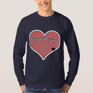 Australian Shepherd Paw Prints Dog Humor T-Shirt