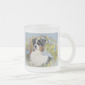 Australian Shepherd Perfect Angel Frosted Glass Coffee Mug