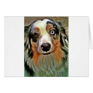 Australian Shepherd Print Card