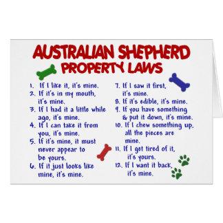 AUSTRALIAN SHEPHERD Property Laws 2 Card