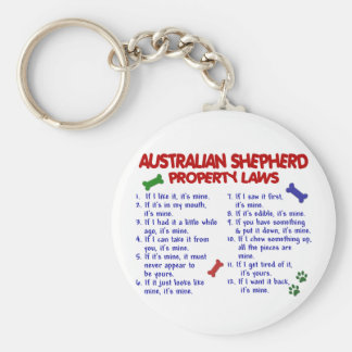 AUSTRALIAN SHEPHERD Property Laws 2 Key Ring