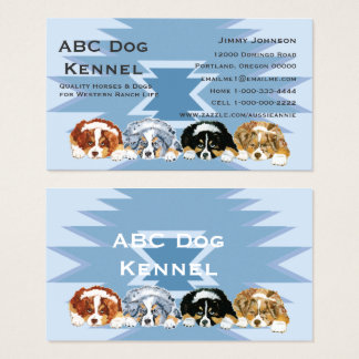 Australian Shepherd Puppies Custom Business Card
