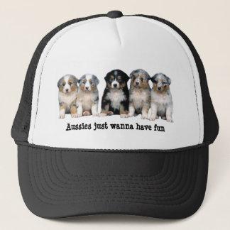 Australian Shepherd Puppies Hat