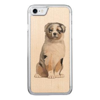 Australian Shepherd Puppy Carved iPhone 7 Case