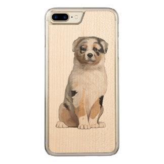 Australian Shepherd Puppy Carved iPhone 7 Plus Case