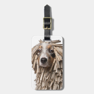 Australian Shepherd puppy full of Clothespin (5 Luggage Tag