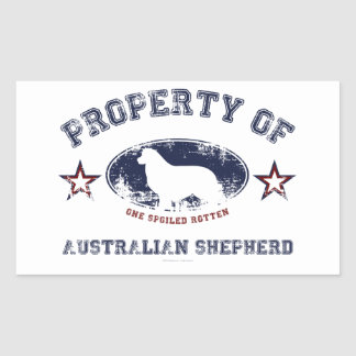 Australian Shepherd Rectangular Sticker