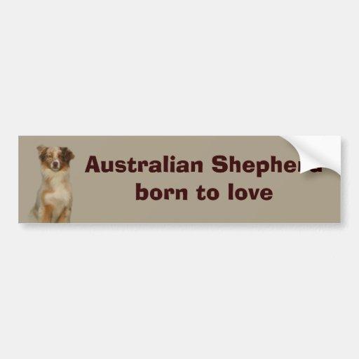 Australian Shepherd Red Bumper Sticker