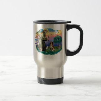 Australian Shepherd (red / white)) Stainless Steel Travel Mug