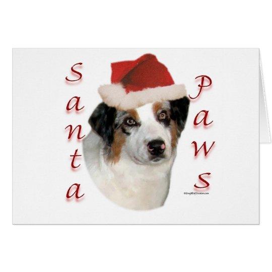 Australian Shepherd Santa Paws Card