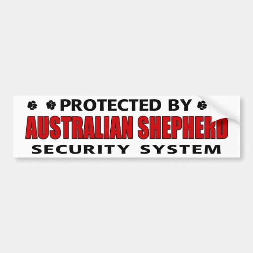 Australian Shepherd Security Bumper Stickers