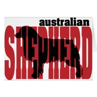 Australian Shepherd silhouette Card