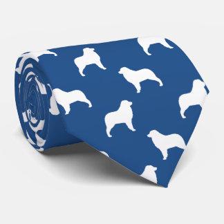 Australian Shepherd Silhouettes Pattern Tie