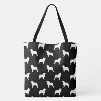 Australian Shepherd Silhouettes Pattern Tote Bag