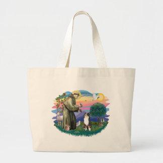 Australian Shepherd (tri) Jumbo Tote Bag