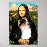 Australian Shepherd (tri) & Mona Lisa Posters