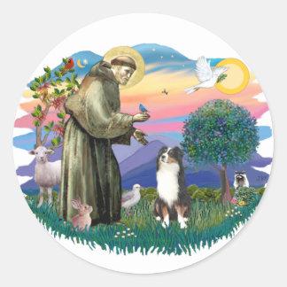 Australian Shepherd (tri) Round Sticker