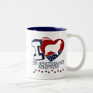 Australian Shepherd Two-Tone Coffee Mug
