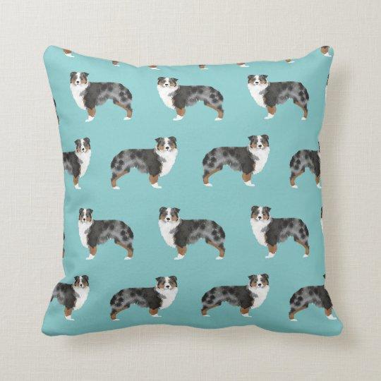 Australian Shepherds blue merle pillow