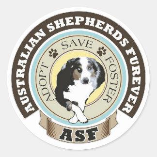 Australian Shepherds Furever Logo Round Sticker
