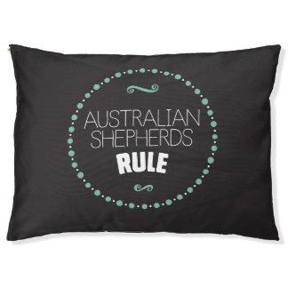 Australian Shepherds Rule Dog Bed – Black