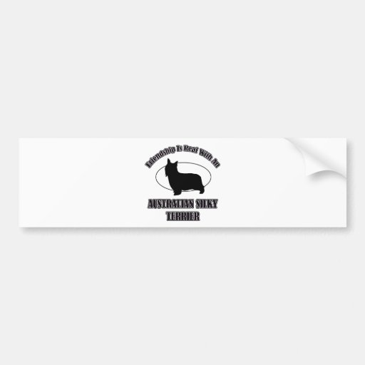 AUSTRALIAN SILKY TERRIER DOG DESIGNS BUMPER STICKER