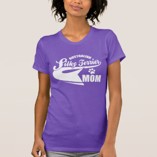 australian silky terrier mom tee shirts