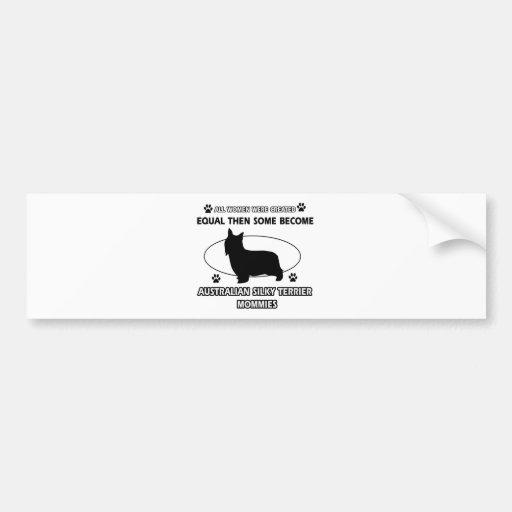 Australian Silky Terrier Mommy Bumper Stickers