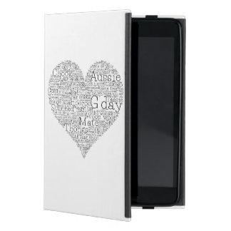 Australian slang heart cover for iPad mini