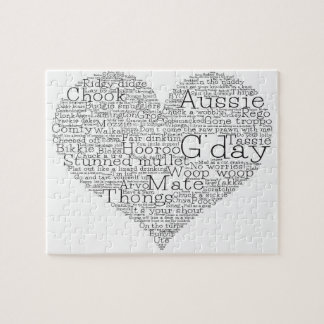 Australian slang heart jigsaw puzzle