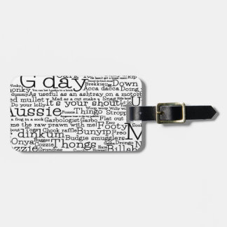 Australian slang map luggage tag