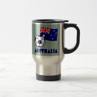 Australian Soccer Ball and Flag 2 Travel Mug