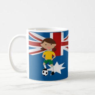 Australian Soccer Girl 4 Basic White Mug