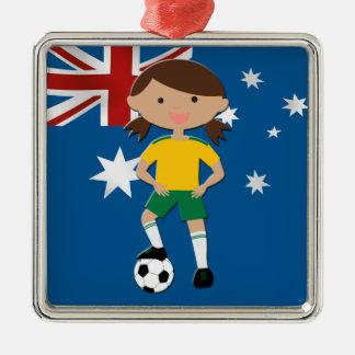 Australian Soccer Girl 4 Christmas Ornaments