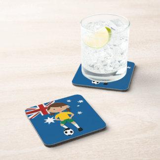 Australian Soccer Girl 4 Drink Coaster