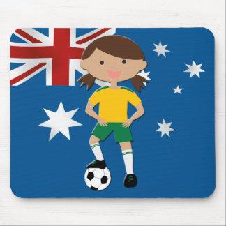 Australian Soccer Girl 4 Mouse Pad