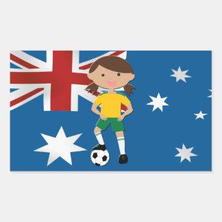 Australian Soccer Girl 4 Rectangular Sticker