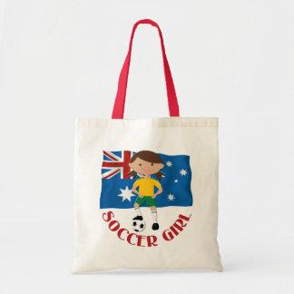 Australian Soccer Girl 4 v2 Budget Tote Bag