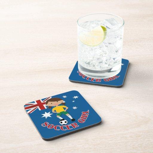 Australian Soccer Girl 4 v2 Coasters