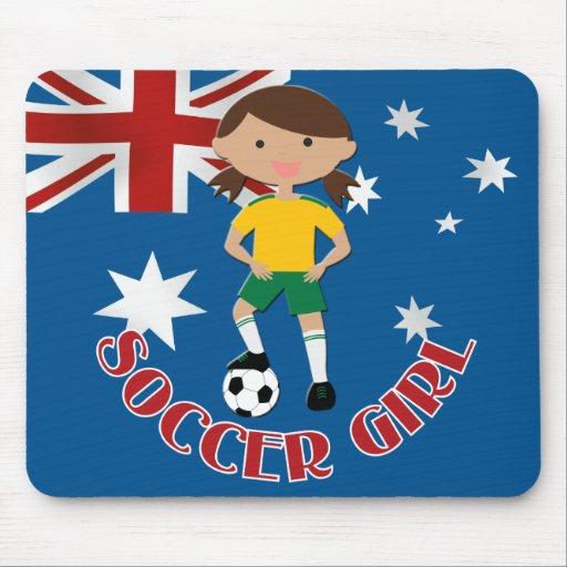 Australian Soccer Girl 4 v2 Mousepads
