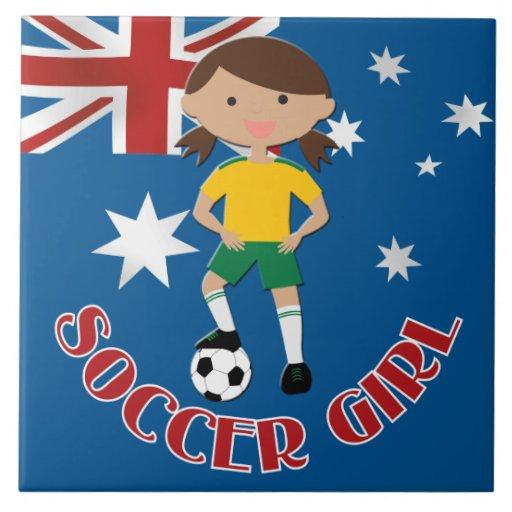 Australian Soccer Girl 4 v2 Tiles