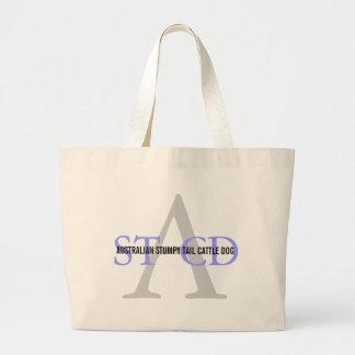Australian Stumpy Tail Cattle Dog Monogram Jumbo Tote Bag