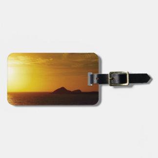 Australian sunrise luggage tag
