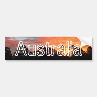 Australian Sunset Car Bumper Sticker