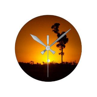 Australian sunset clock