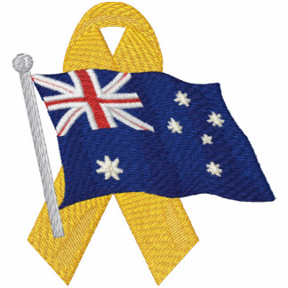 Australian  - Support Our Troops Embroidered Shirts