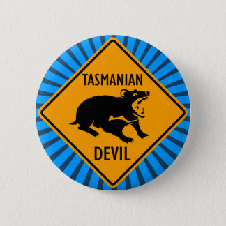 Australian Tasmanian Devil Sign 6 Cm Round Badge