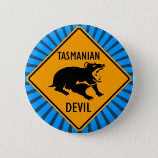 Australian Tasmanian Devil Sign 6 Cm Round Badge