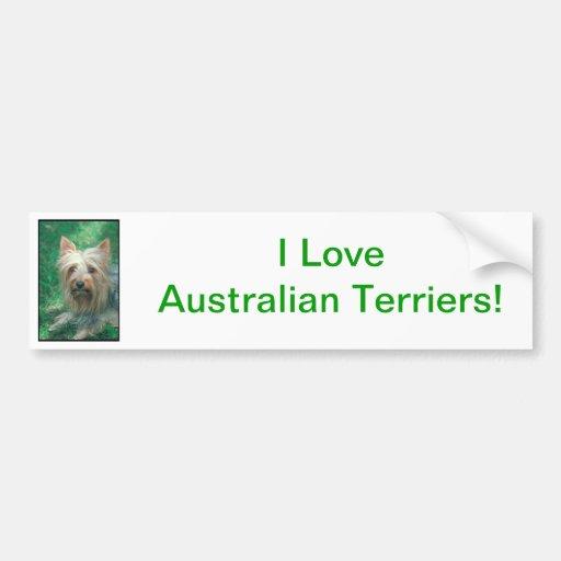 Australian Terrier Bumper Stickers