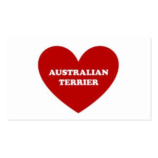 Australian Terrier Business Card Template